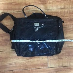 Nine West Bags - NWOT Nine West Black Textured Book/Messenger Bag